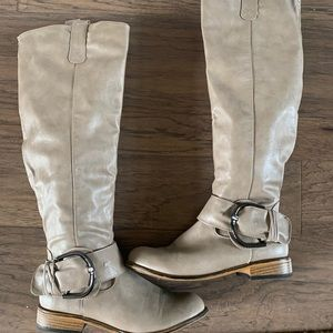 Knee high riding inspired boots by Bamboo sz 8.5
